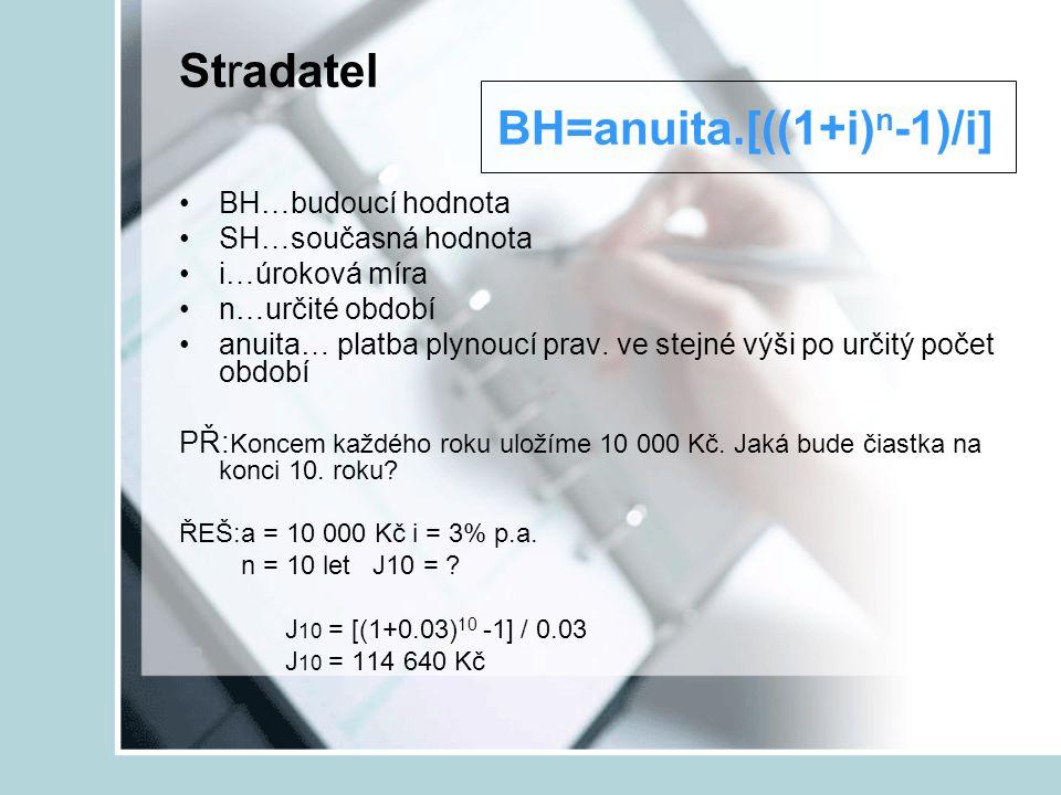 Stradatel BH=anuita.[((1+i)n-1)/i]